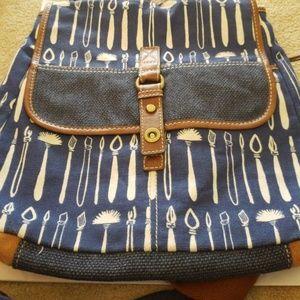 Fossil vintage backpack canvas
